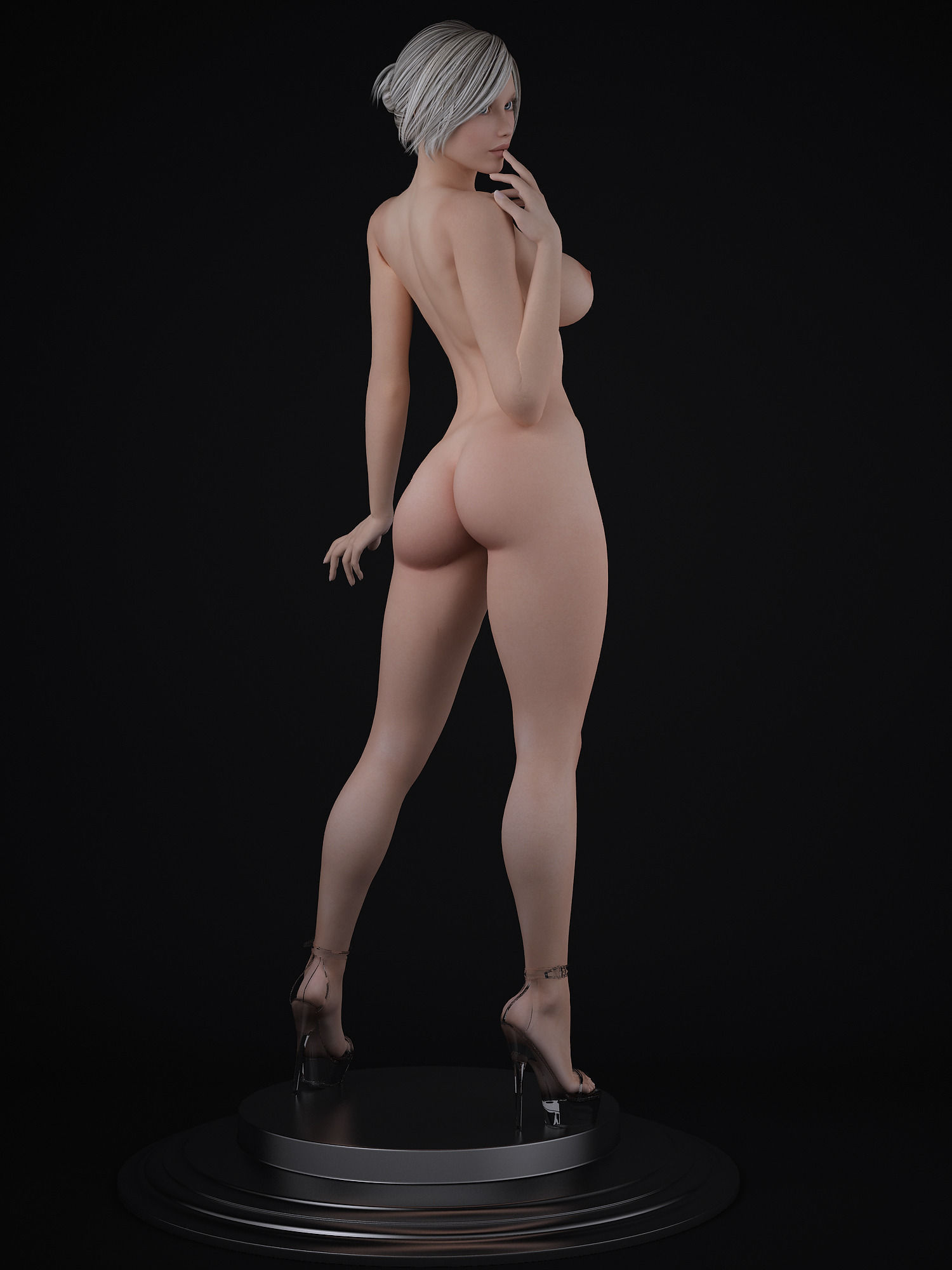 Nude Female Character 3D Model Max - Cgtradercom-6676