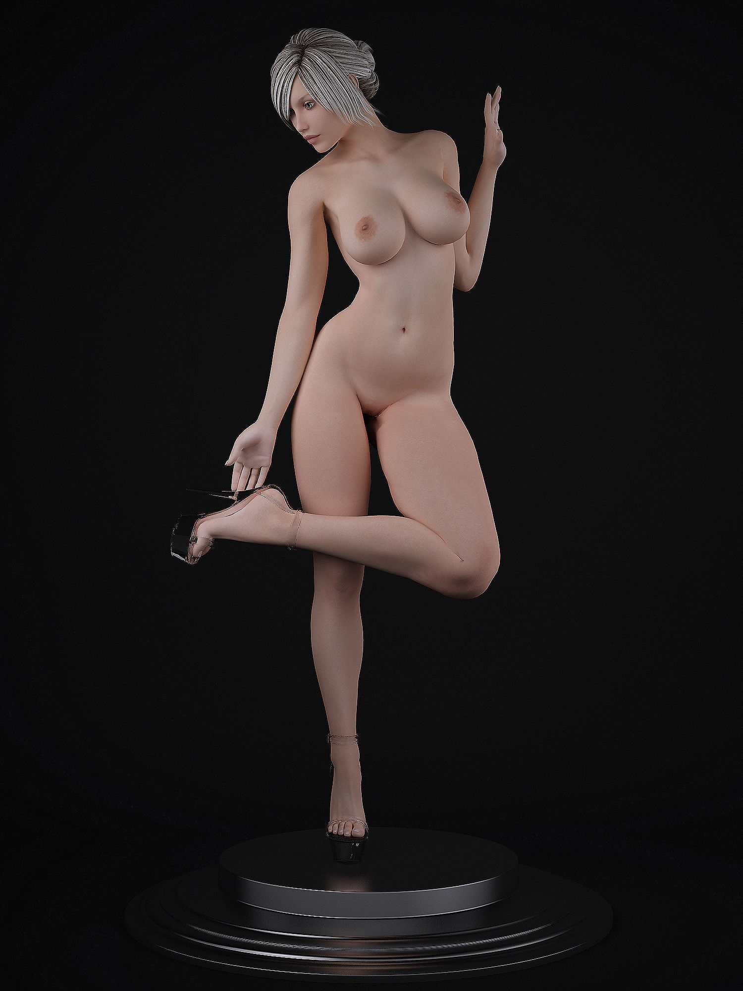 naked lady with vagina and penis