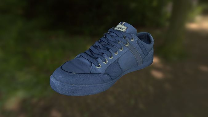 sneaker shoe low poly 3d model 3d model obj mtl fbx lwo lw lws ma mb stl dae 1