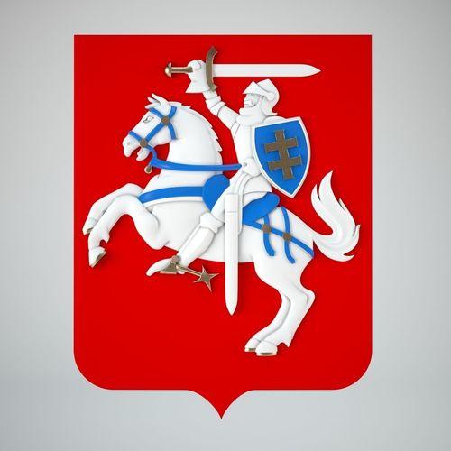 coat of arms of lithuania 3d model max obj mtl fbx stl 1