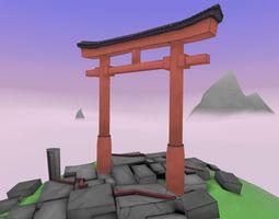Asian Inspired Shrine 3D asset