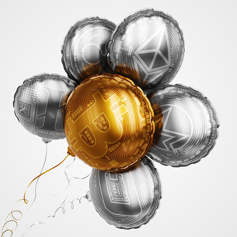 Crypto currency balloons