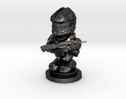 master chief figurine 3d print model