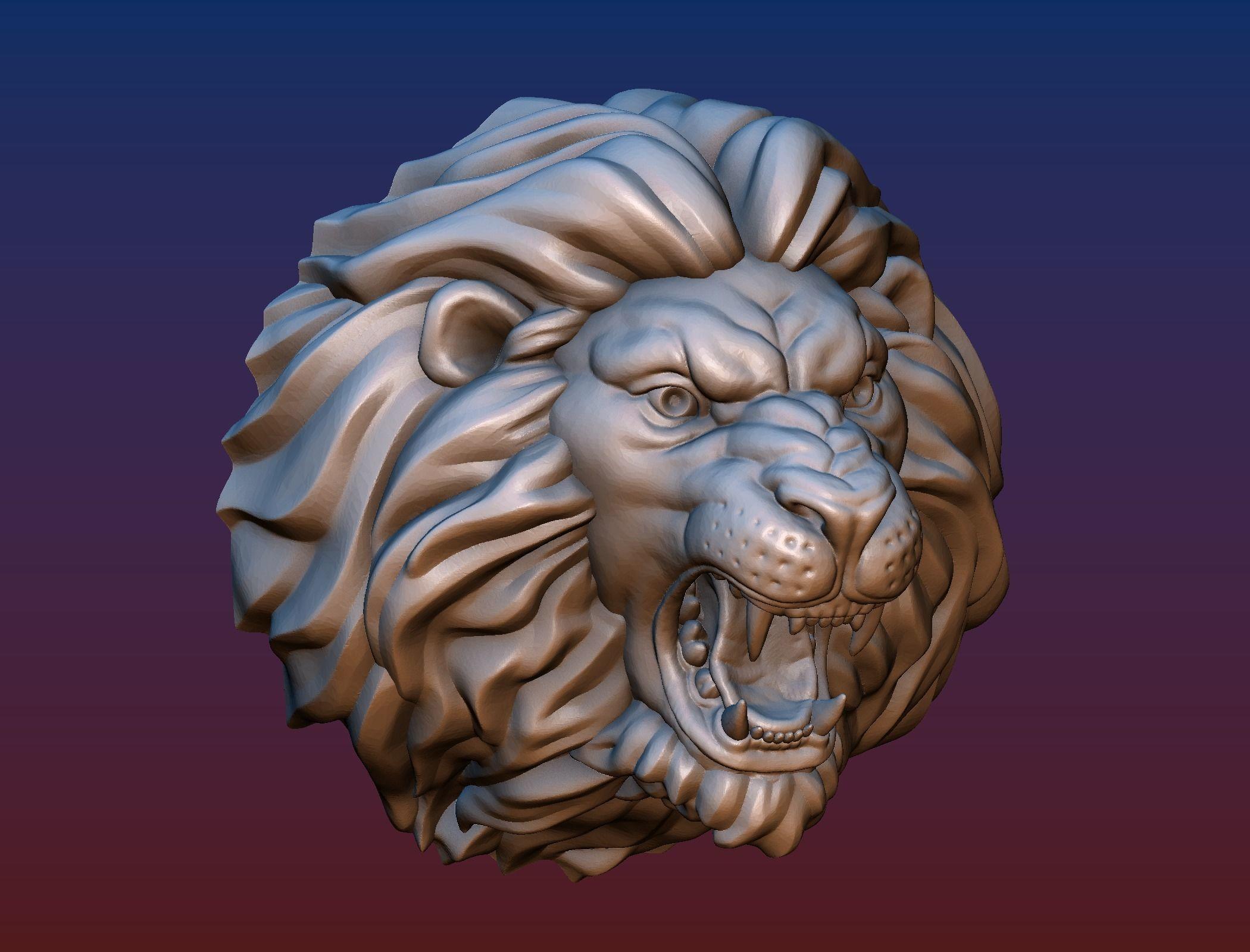 Lion head short mane