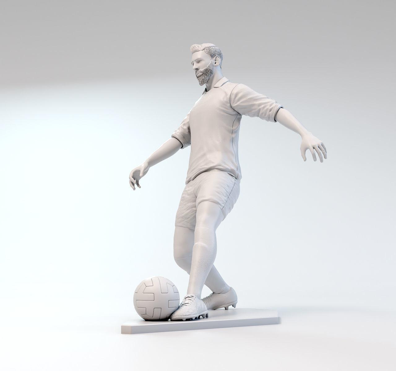 Footballer 03 Footstrike 01 STL