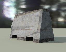 3d model road barrier