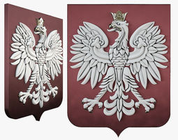 3D printable model Rzeczpospolita coat of arms
