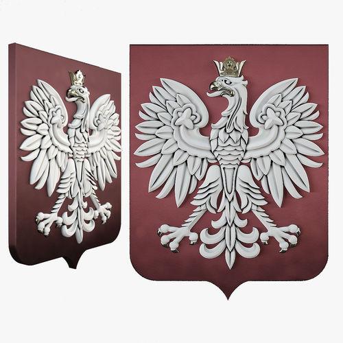 rzeczpospolita coat of arms 3d model max obj mtl fbx stl 1