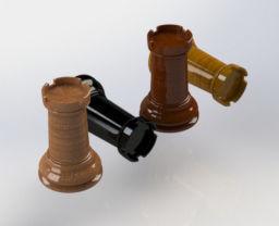 chess rook 3d model stl sldprt sldasm slddrw 1