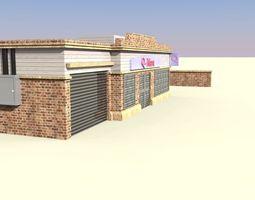 low-poly store 3d asset