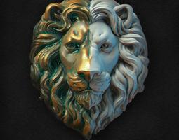 3D printable model Lions Head relief