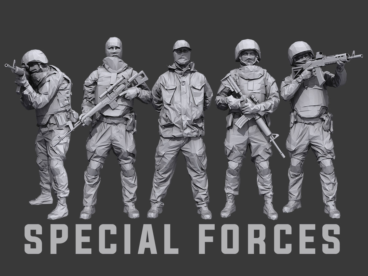 Lowpoly Special Forces Pack