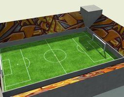 3D asset low poly stadium