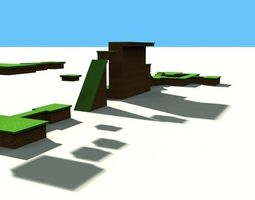 cartoon map scene 3D model