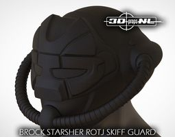 Brock Starsher ROTJ Skiff Guard Helmet 3D printable model