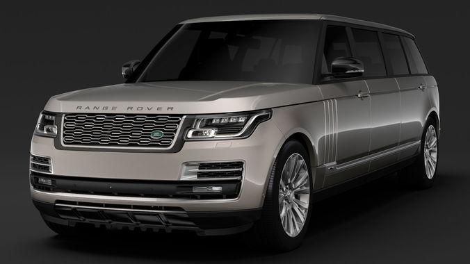 Land Rover Range Rover Evoque Autobiography >> 3D model Range Rover SVAutobiography Limo L405 2019
