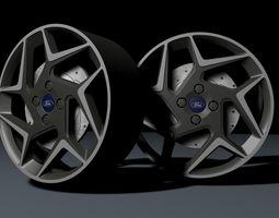3D model 2018 Fiesta St Alloy Wheel