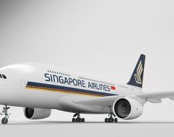 Airbus A380 - Singapore Airlines 3D asset