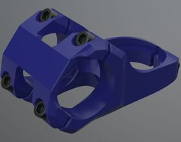 realistic bicycle stem part 3d model