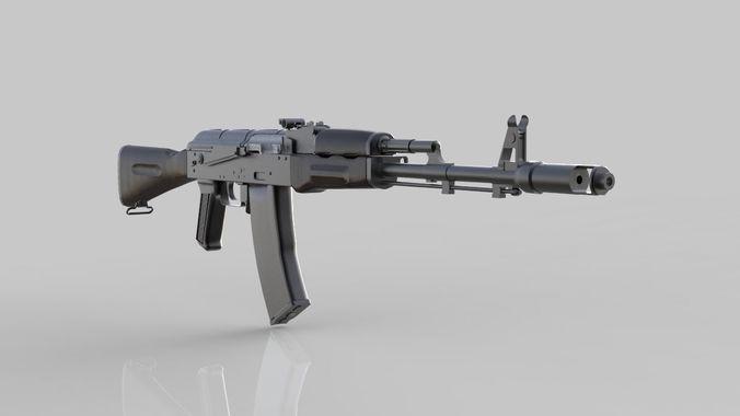 ak-74 3d model max obj mtl 3ds fbx 1