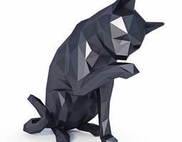 Cat Low Poly v1 3D model low-poly