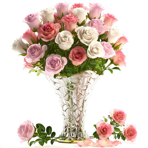Bouquet Of Roses collection of roses in a vase 3d model | cgtrader
