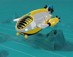 3D Submarine Balloon Ship