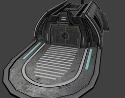3D model Low poly Sci-fi Landing Building