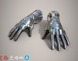 Game Ready Hand Armor D180423 3D model