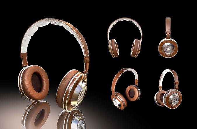 headphones 3d model max obj mtl fbx mat 1
