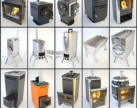 SiberStove Stoves Collection 15 in 1 3D model