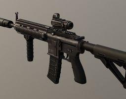 PBR Assault Rifle HK416 Game Ready 3D asset