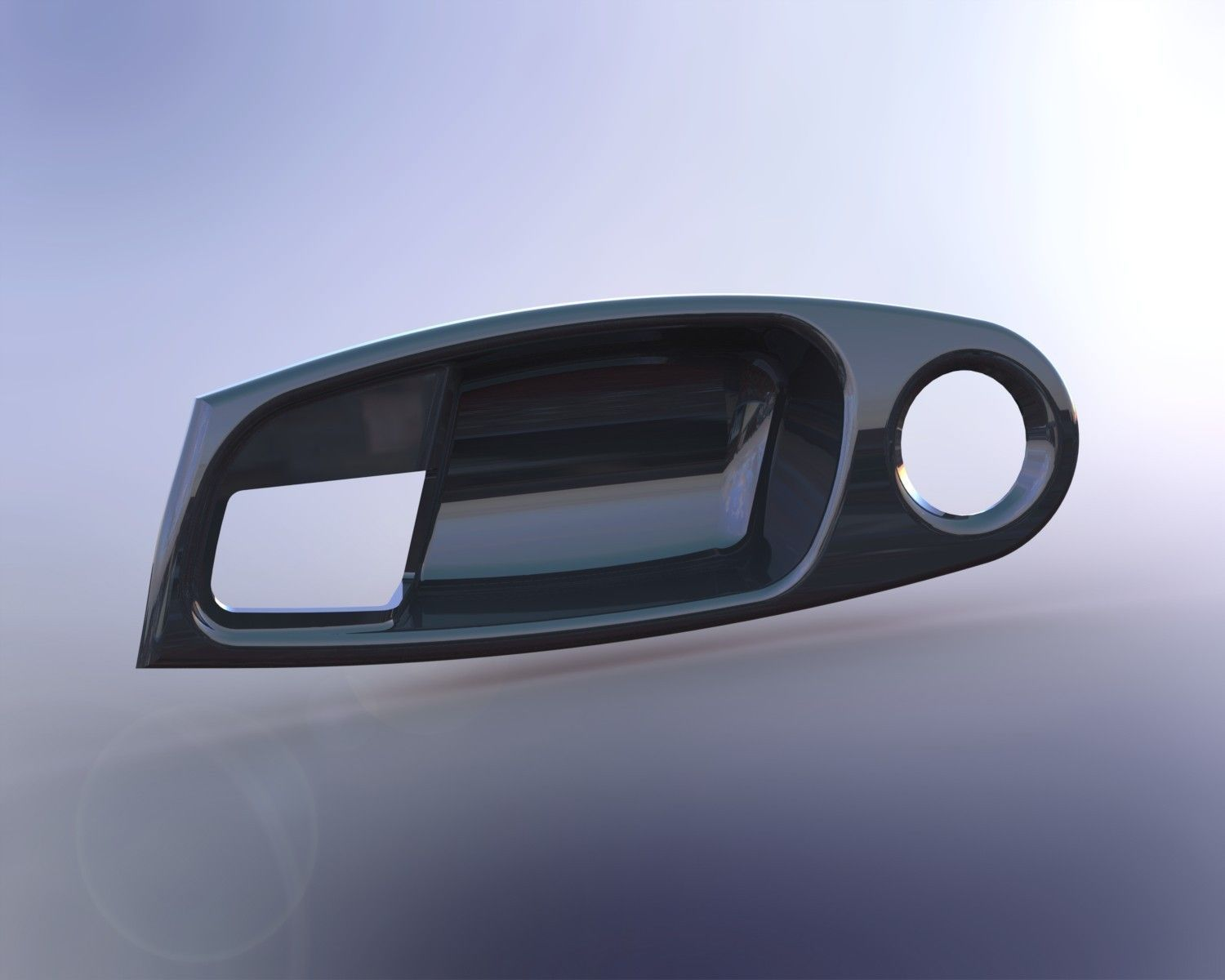 ... door handle bezel 3d model stl dwg sldprt sldasm slddrw 4 & Door Handle Bezel 3D | CGTrader