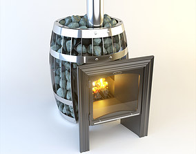 3D model SiberStove Sauna Wood Grid Stove Sanything