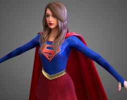 Supergirl - TV Show HighPoly 3D