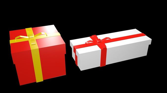 low poly gifts boxes 1 3d model low-poly obj mtl 3ds fbx blend x3d ply 1