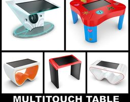 3D model Crasiis Multitouch Tables Collection 5-in-1