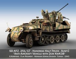 SDKFZ 251 Ausf C - Hanomag AA- vehicle - 8 3D model
