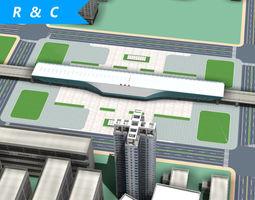 shu zhou railway station 3D model