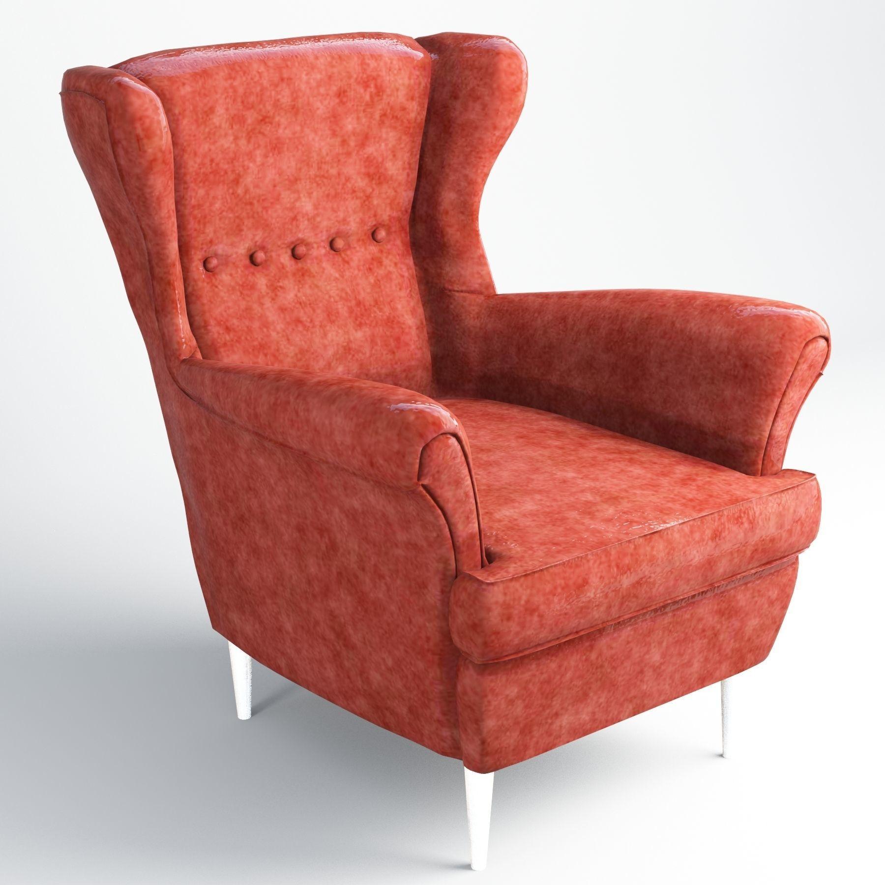 3d Asset Vr Ar Ready Strandmon Sofa Ikea Cgtrader