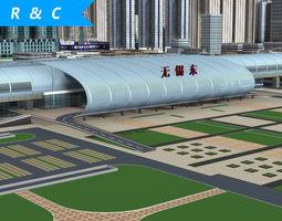 wuxi railway station railroad 3D model