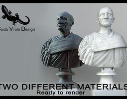 Marcus Porcius Cato the Censor bust 3D Model