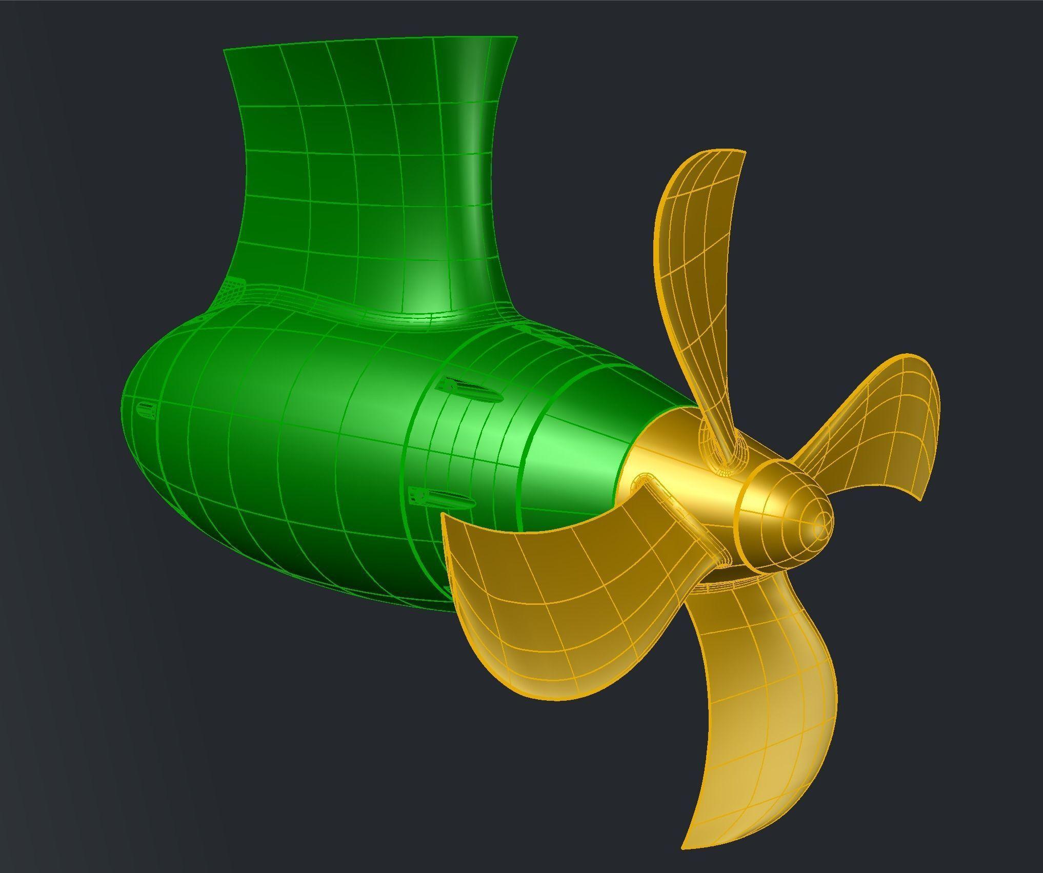 4 BLADE PROPELLER D340   3D Print Model