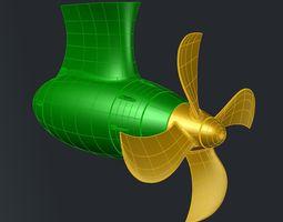 3D print model 4 BLADE PROPELLER D340