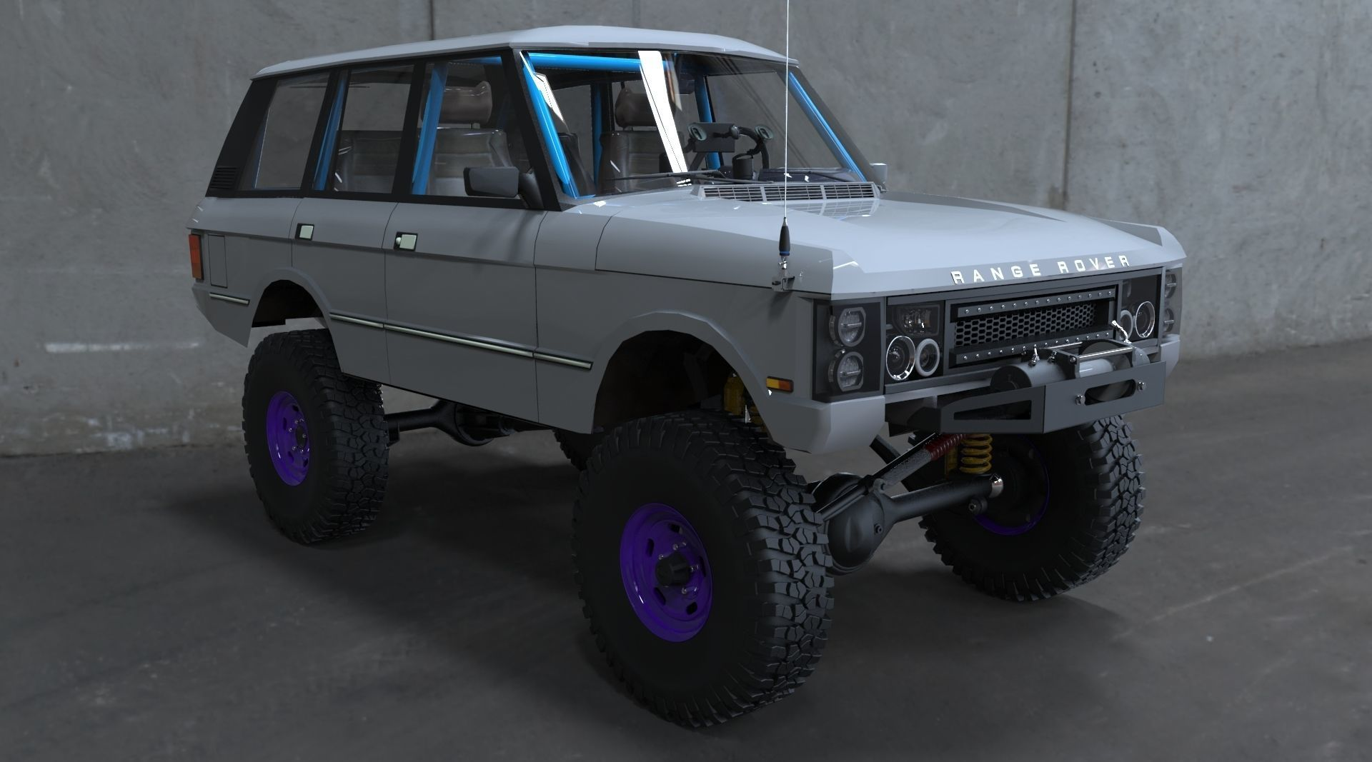 4x4 Off Road >> Land Rover Range Rover Classic 4x4 Off Road Rock Crawler Xtreme 3d Model