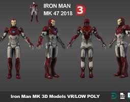 3D asset Iron Man MK 47 Armor