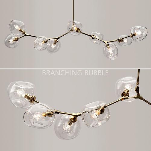 branching bubble 9 lamps by lindsey adelman ckear gold 3d model max obj mtl fbx 1