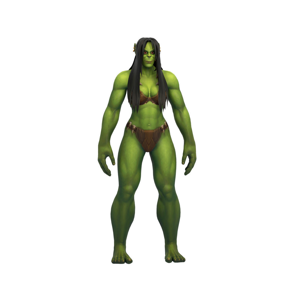 Orc Female Full Rig and HumanIK