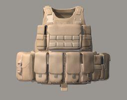 3D asset USMC Improved Modular Tactical Vest