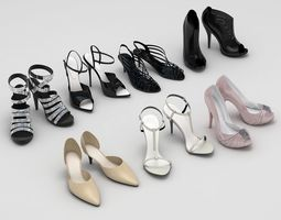 3D model Lady Shoes Collection